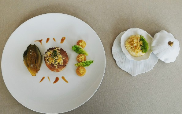 Restaurant Gastronomique La Rotonde des Trésoms, le Caion dans le Menu Club du Chef Eric Prowalski