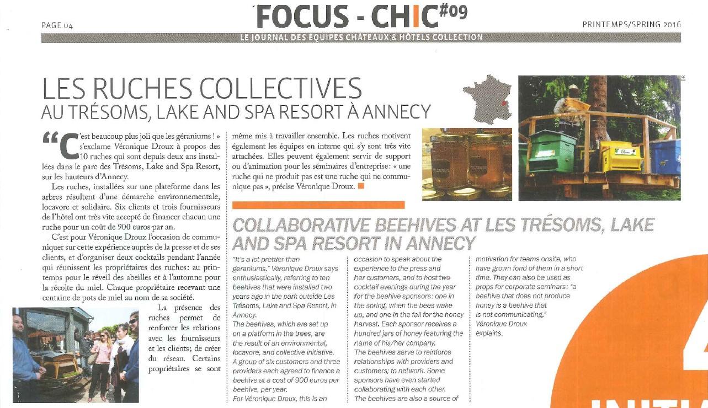 CHIC CHC - Les ruches collectives aux Trésoms - Printemps 2016