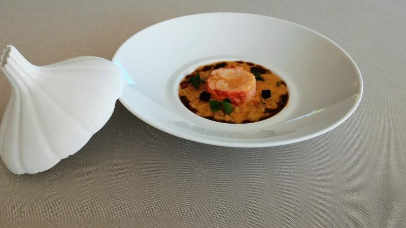 Crozet en risotto - Restaurant gastronomique la rotonde Annecy Haute Savoie