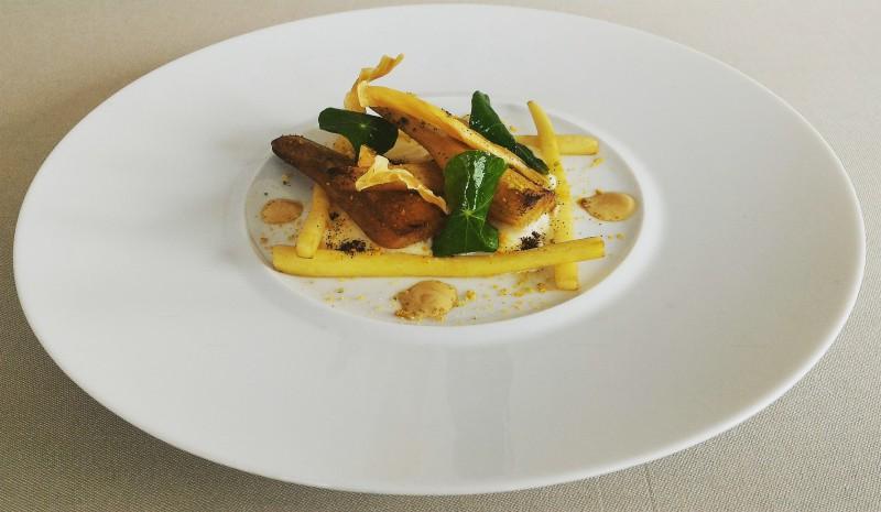 Cuisine végétale par eric prowalski au restaurant gastronomique la rotonde des tresoms à Annecy