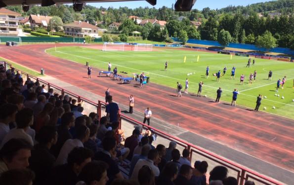 euro 2016 entrainement de l'équipe d'Islande à Annecy le Vieux