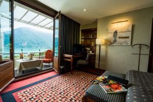 Chambre avec vue sur le lac d'Annecy - Hôtel Restaurant Spa Les Trésoms