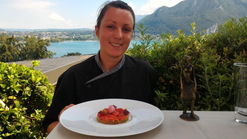 Rhubarbe - dessert Menu Club - Restaurant Gastronomique La rotonde des Trésoms