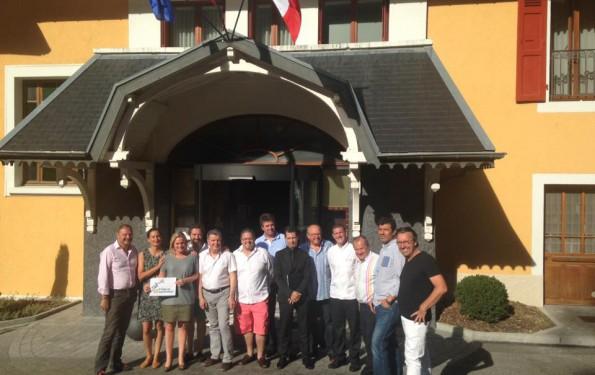 Les Chefs du bassin annécien réunis à l'Hôtel Les Trésoms Annecy pour établir le menu de la soirée caritative pour l'association A chacun son Everest