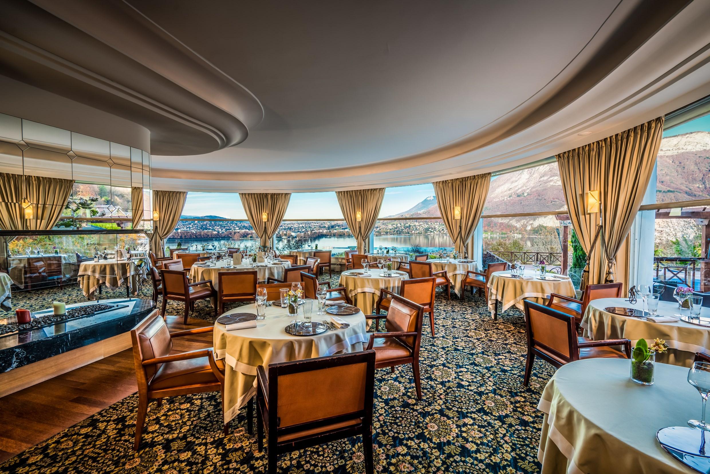 Restaurant gastronomique la rotonde des trésoms vue