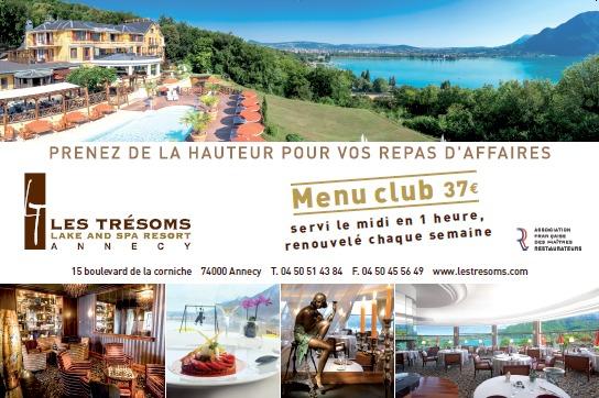 Repas d'affaire - Restaurant gastronomique La Rotonde des Trésoms - Annecy