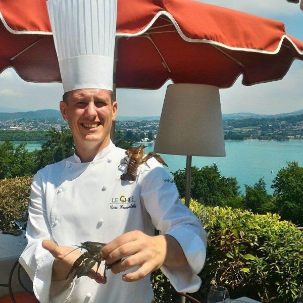 chef-eric-prowalski-ecrevisse-restaurant-les-tresoms-lac-annecy