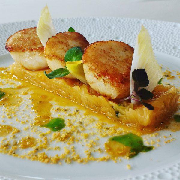 La Saint-Jacques - Menu Club Restaurant Gastronomique La Rotonde des Trésoms - Annecy