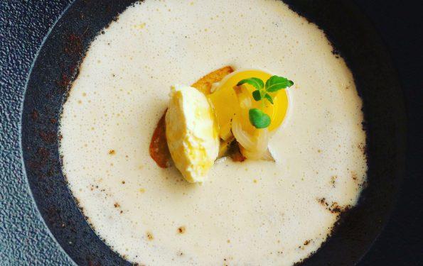 Crème d'Endive café - Menu Club - Restaurant La Rotonde des Trésoms Annecy