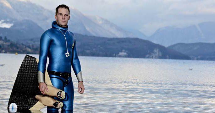 Stéphane Tourreau - Vice champion du monde apnée et Ambassadeur de l'hôtel Les Trésoms Annecy