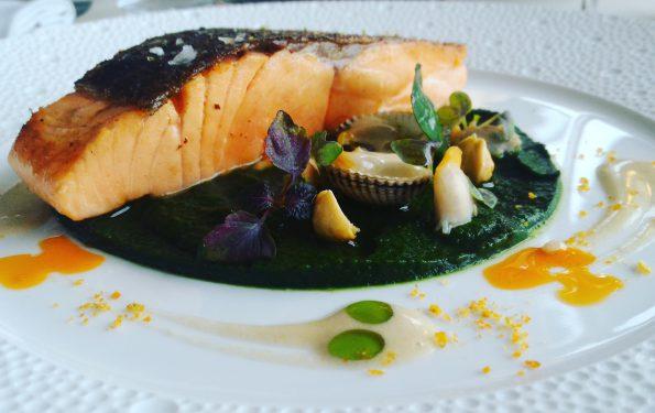 La Truite dans le Menu Club - Restaurant Gastronomique - La Rotonde des Trésoms Annecy