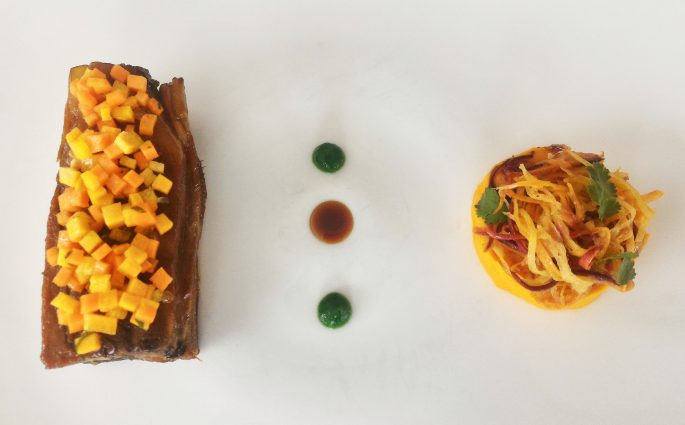 Le Jarret de Veau et sa déclinaison de carottes - Menu Club - Restaurant La Rotonde Annecy